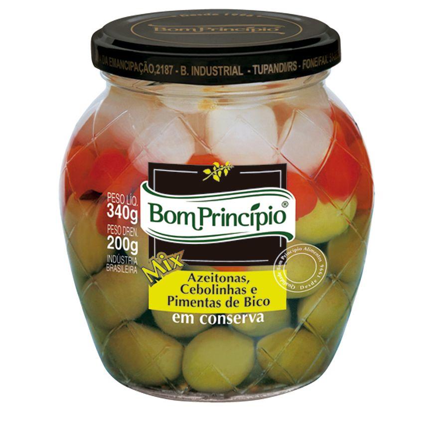 Mix - Azeitonas, Cebolinhas e Pimentas de Bico