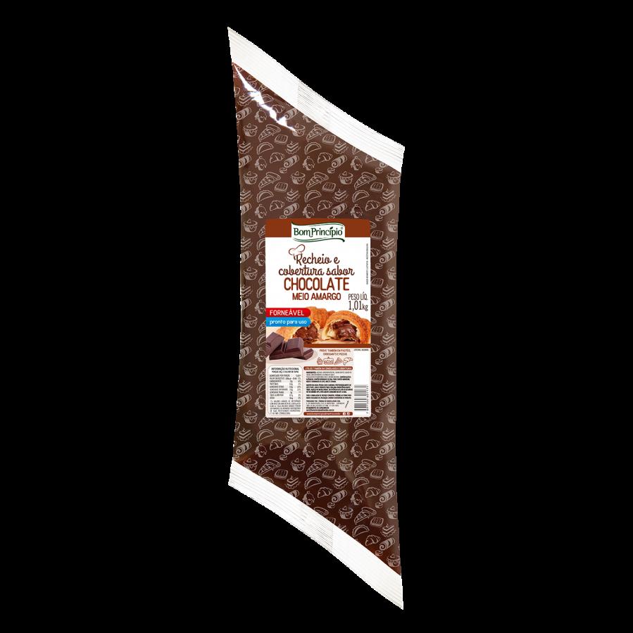 Recheio e Cobertura Sabor Chocolate Meio Amargo
