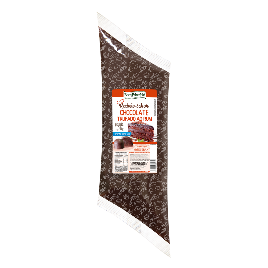 Recheio sabor Chocolate Trufado ao Rum