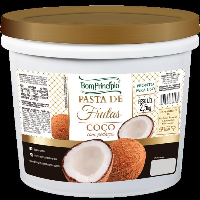 Pasta de Frutas Coco com Pedaços