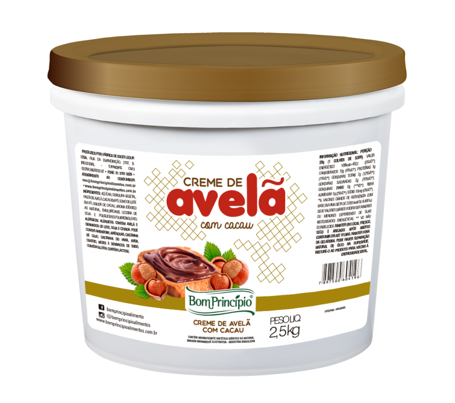 Creme de Avelã com Cacau 2,5kg