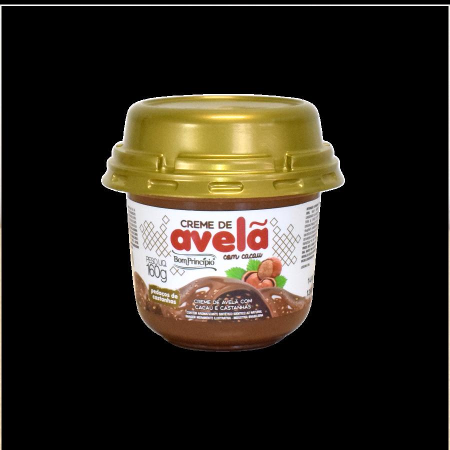 Creme de Avelã com Cacau e pedaços de Castanhas 160g