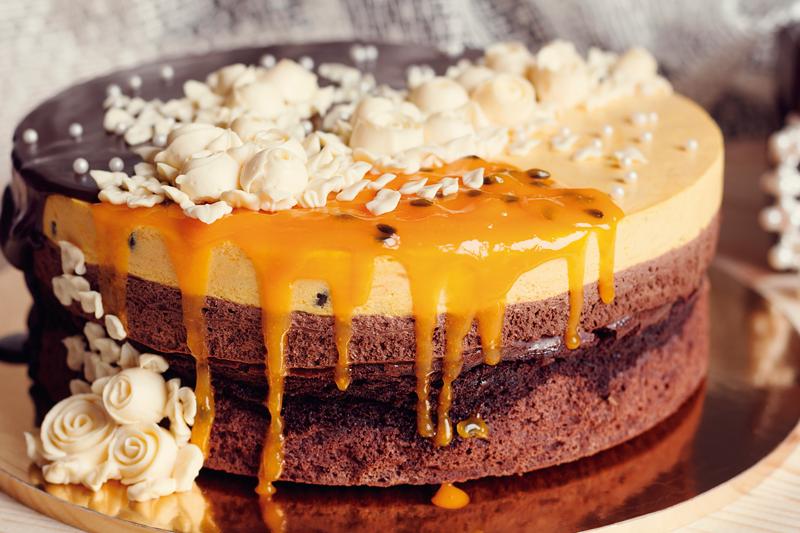 Torta Mousse de Chocolate com Maracujá